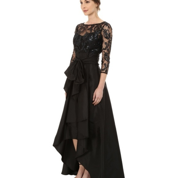 b67f65e8446e6 Adrianna Papell High Low Formal Sequin Lace Dress